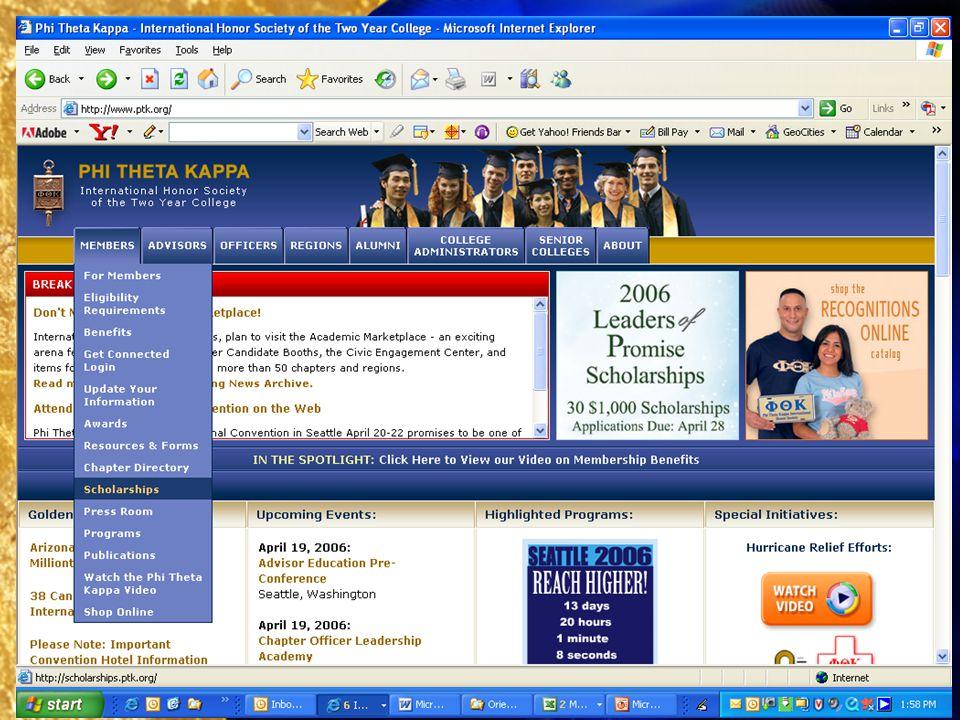 Searching PTKs eScholarship Directory, 1