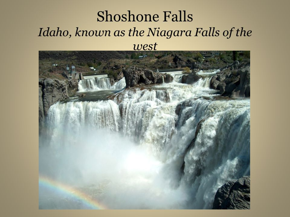 Shoshone Falls Idaho, known as the Niagara Falls of the west