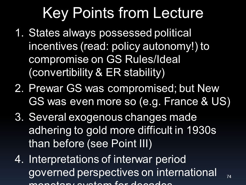 Key Points from Lecture 1.
