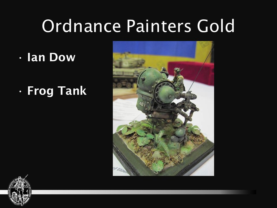 Ordnance Painters Gold Ian Dow Frog Tank