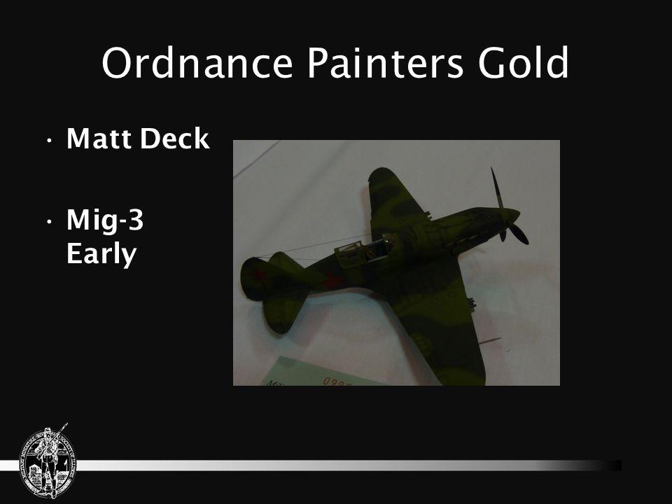 Ordnance Painters Gold Bob Hickl Snowspeeder