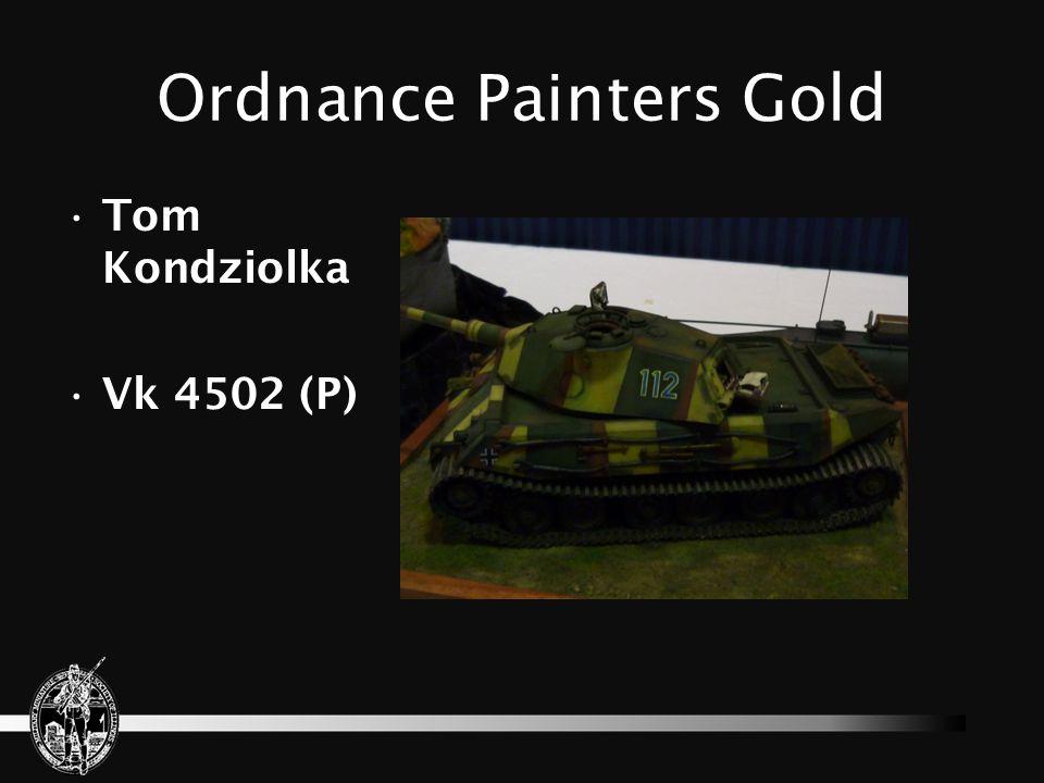 Ordnance Painters Gold Chuck Aleshire U.S. Anti- tank M-5