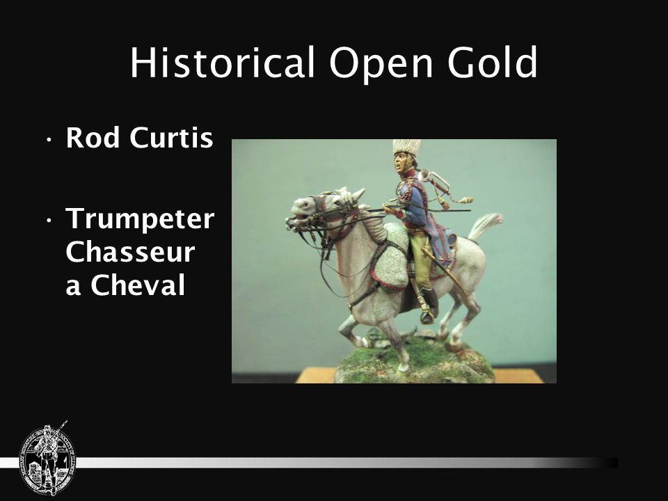 Historical Open Gold Rod Curtis Trumpeter Chasseur a Cheval
