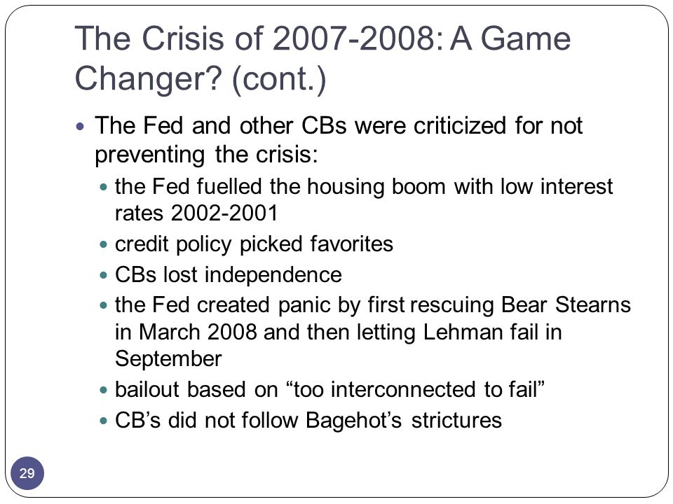 The Crisis of : A Game Changer.