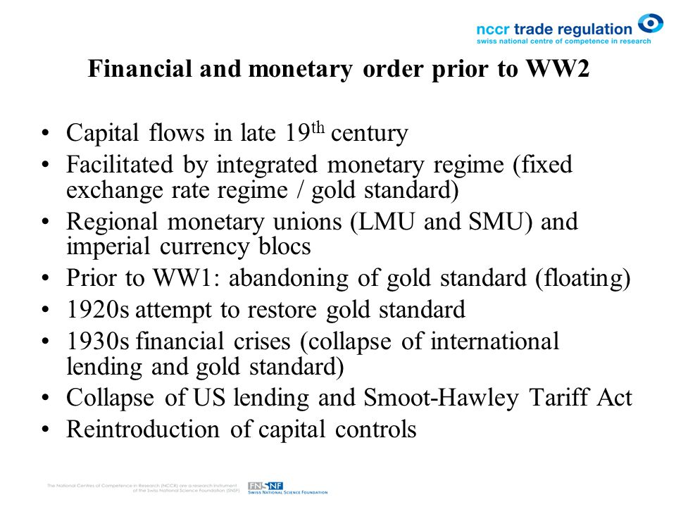 Financial and monetary order prior to WW2 HST: why did US not take on leadership.