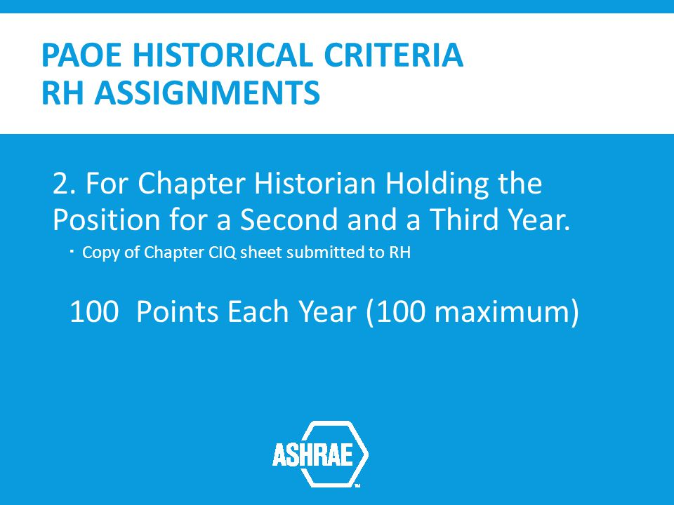 PAOE HISTORICAL CRITERIA RH ASSIGNMENTS 2.