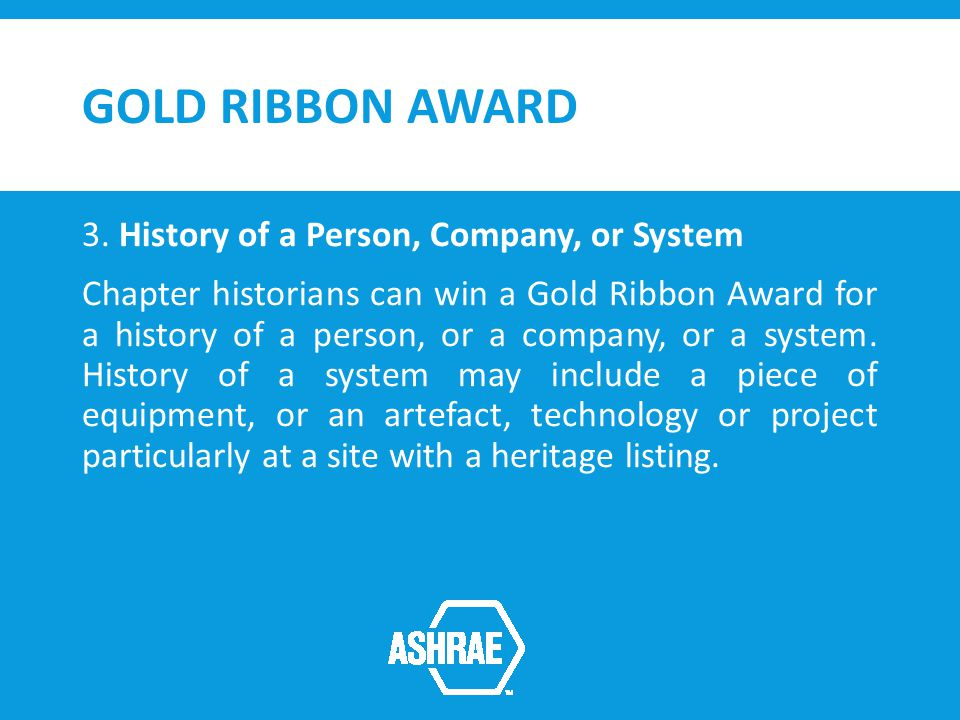 GOLD RIBBON AWARD 3.