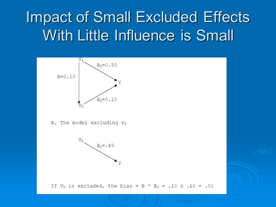 Impact of Small Excluded Effects With Little Influence is Small