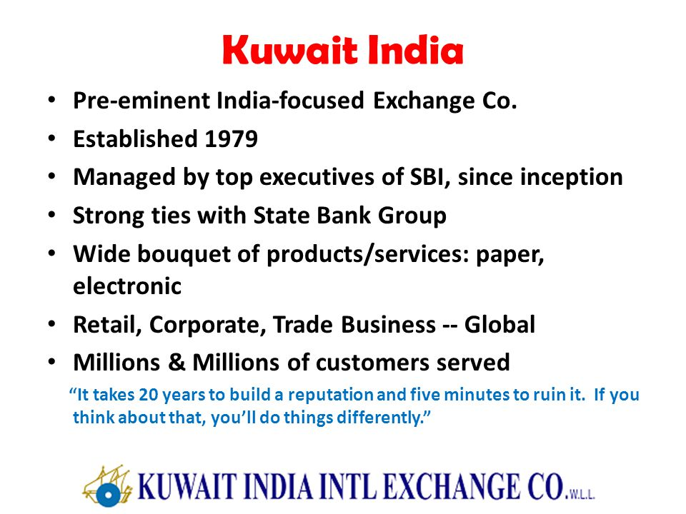 Kuwait India Pre-eminent India-focused Exchange Co.