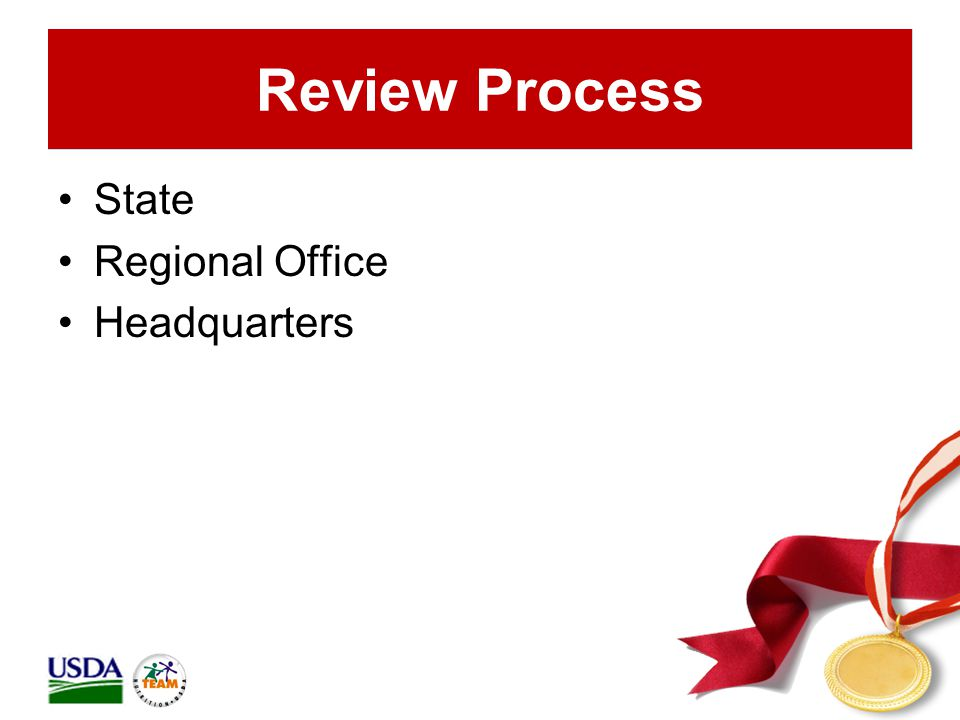 Review Process State Regional Office Headquarters