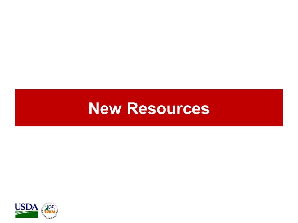 New Resources