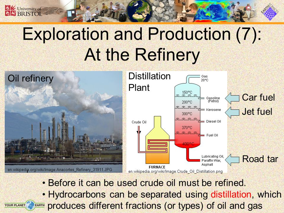Exploration and Production (7): At the Refinery Before it can be used crude oil must be refined. Hydrocarbons can be separated using distillation, whi