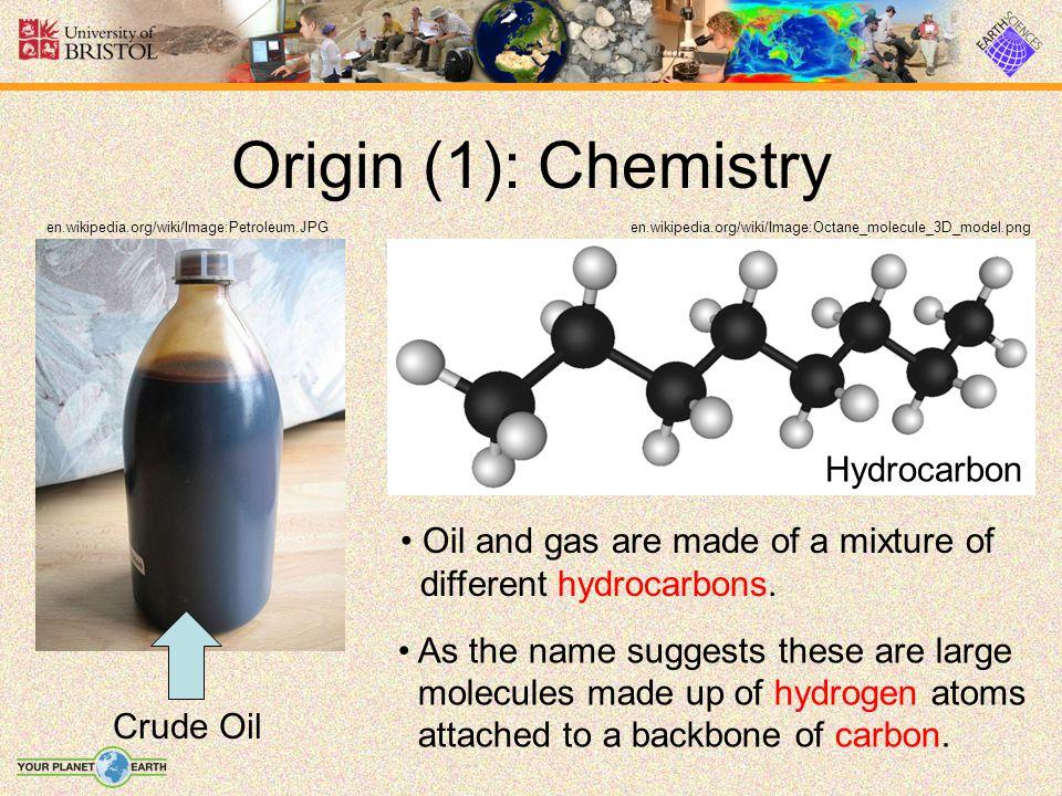Origin (1): Chemistry Crude Oil Hydrocarbon en.wikipedia.org/wiki/Image:Octane_molecule_3D_model.pngen.wikipedia.org/wiki/Image:Petroleum.JPG Oil and