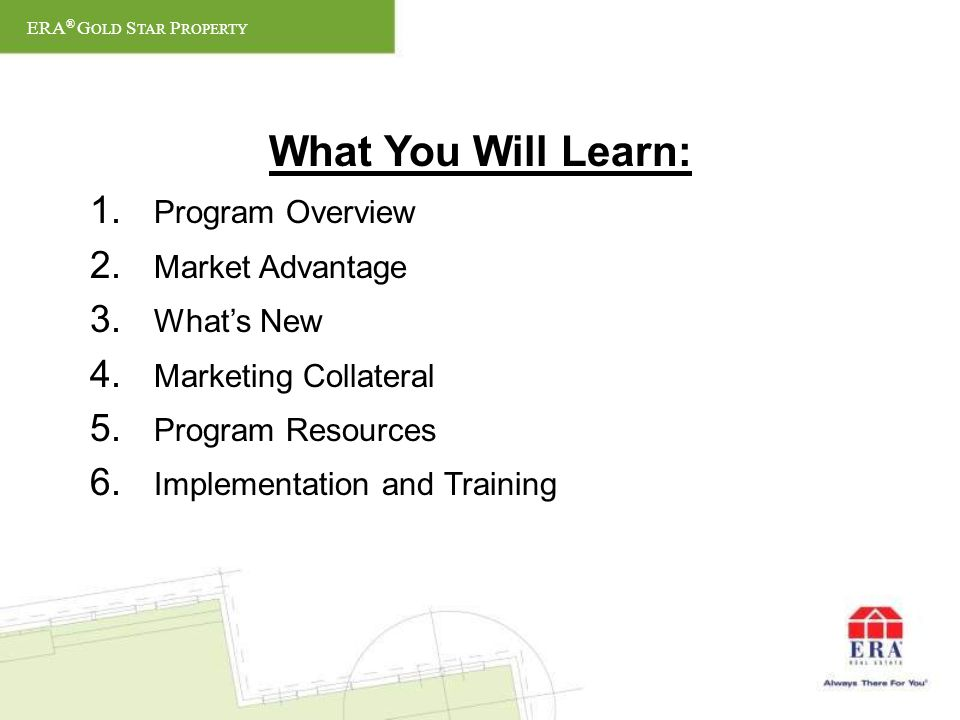 What You Will Learn: 1. Program Overview 2. Market Advantage 3.