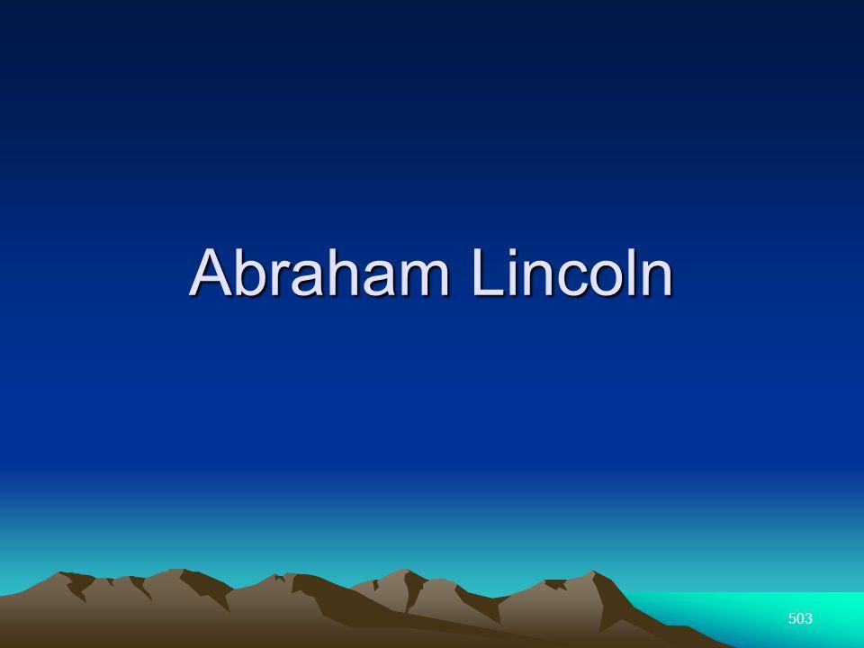 503 Abraham Lincoln
