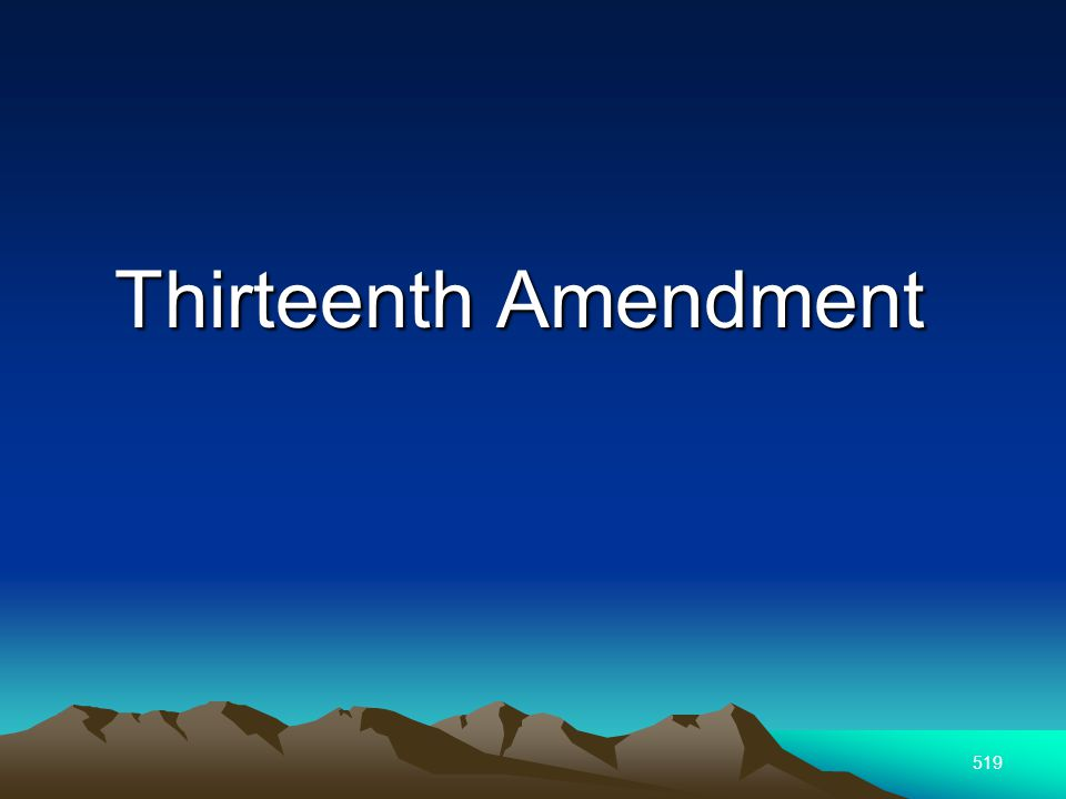 519 Thirteenth Amendment