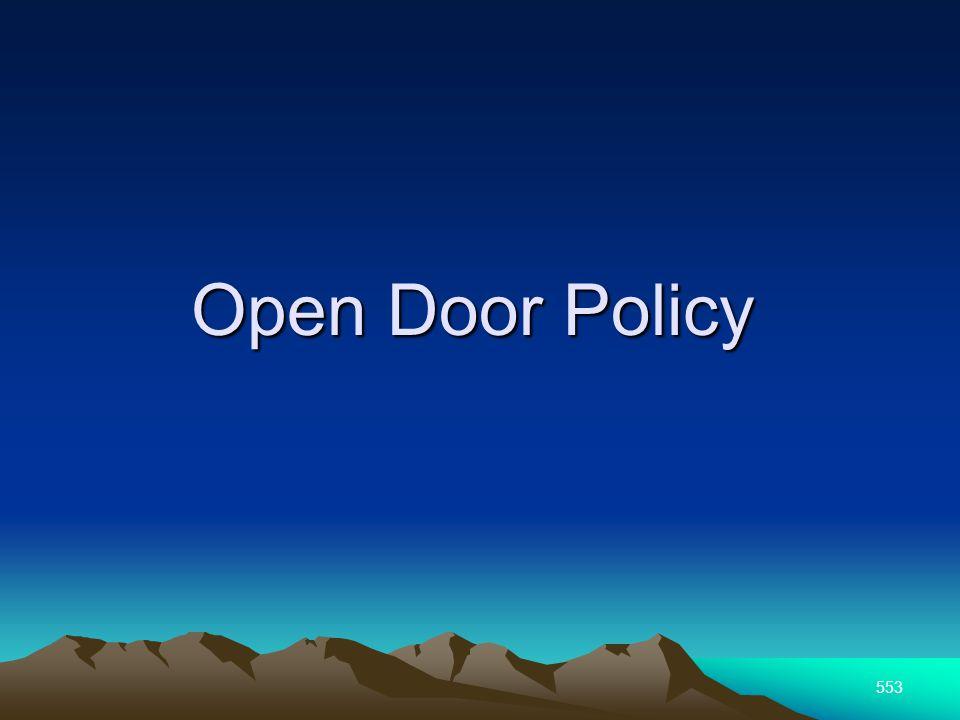 553 Open Door Policy