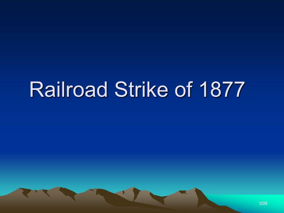 559 Railroad Strike of 1877