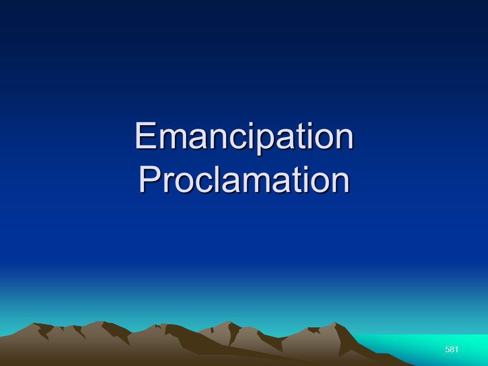 581 Emancipation Proclamation