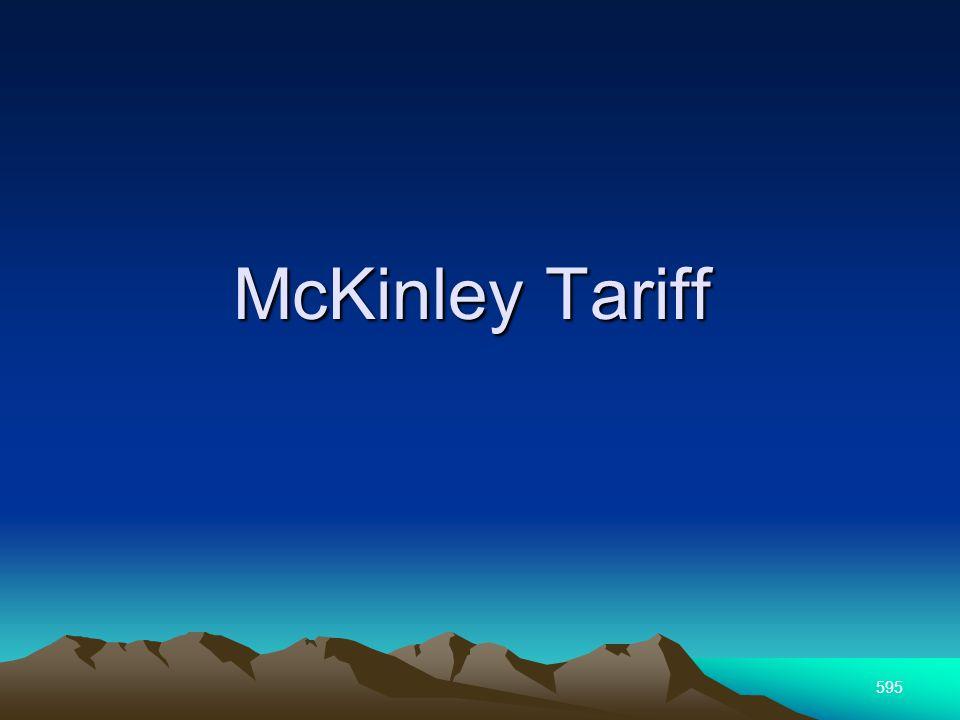 595 McKinley Tariff