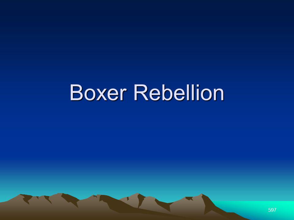 597 Boxer Rebellion