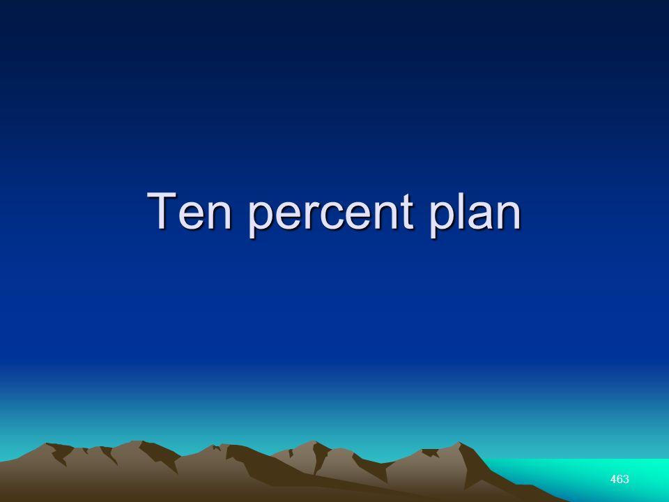 463 Ten percent plan