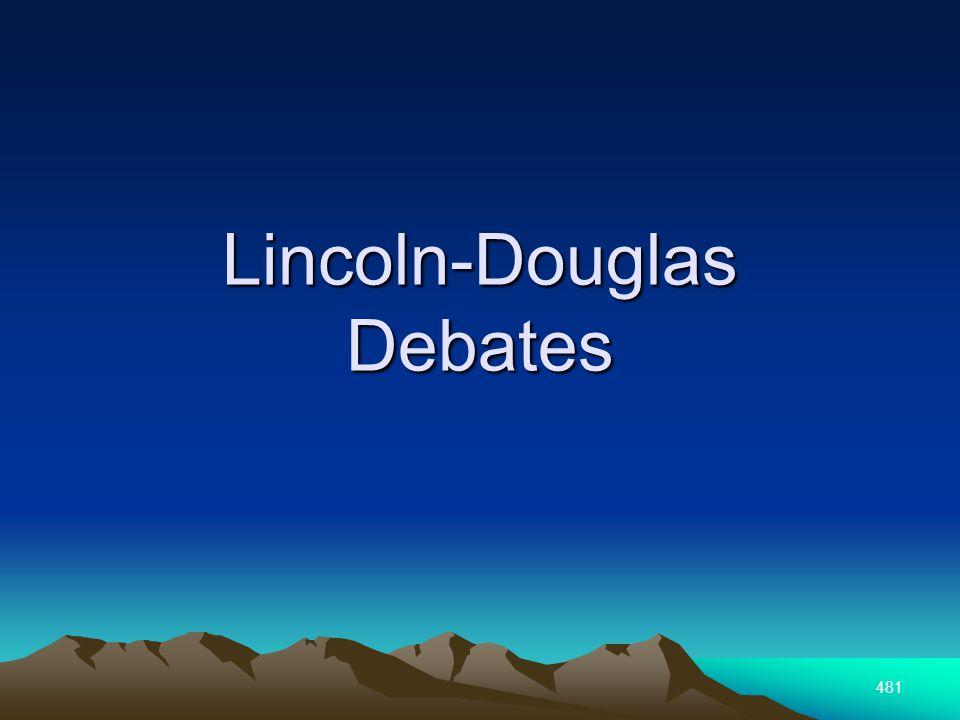 481 Lincoln-Douglas Debates
