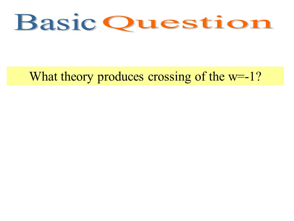What theory produces crossing of the w=-1