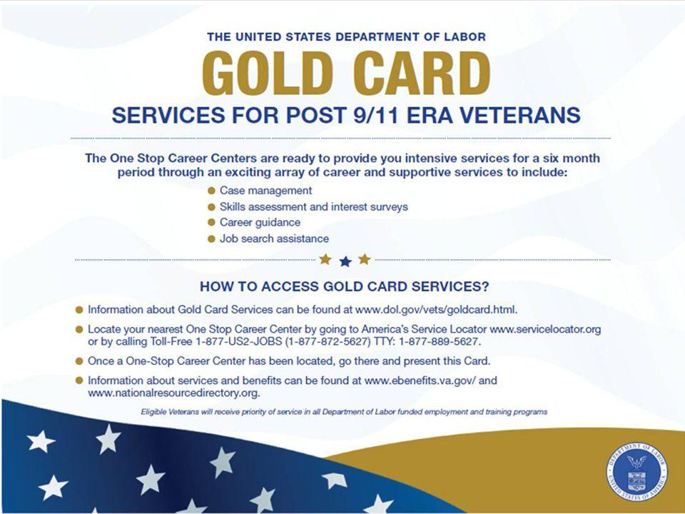 11 Post 9/11 ERA Veterans Gold Card Initiative Webinar