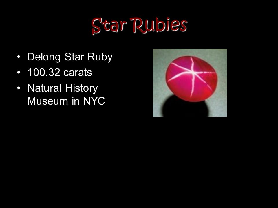 Star Rubies Delong Star Ruby 100.32 carats Natural History Museum in NYC