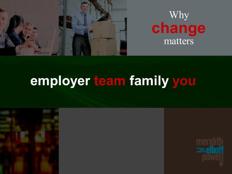 Why change matters employer team family you
