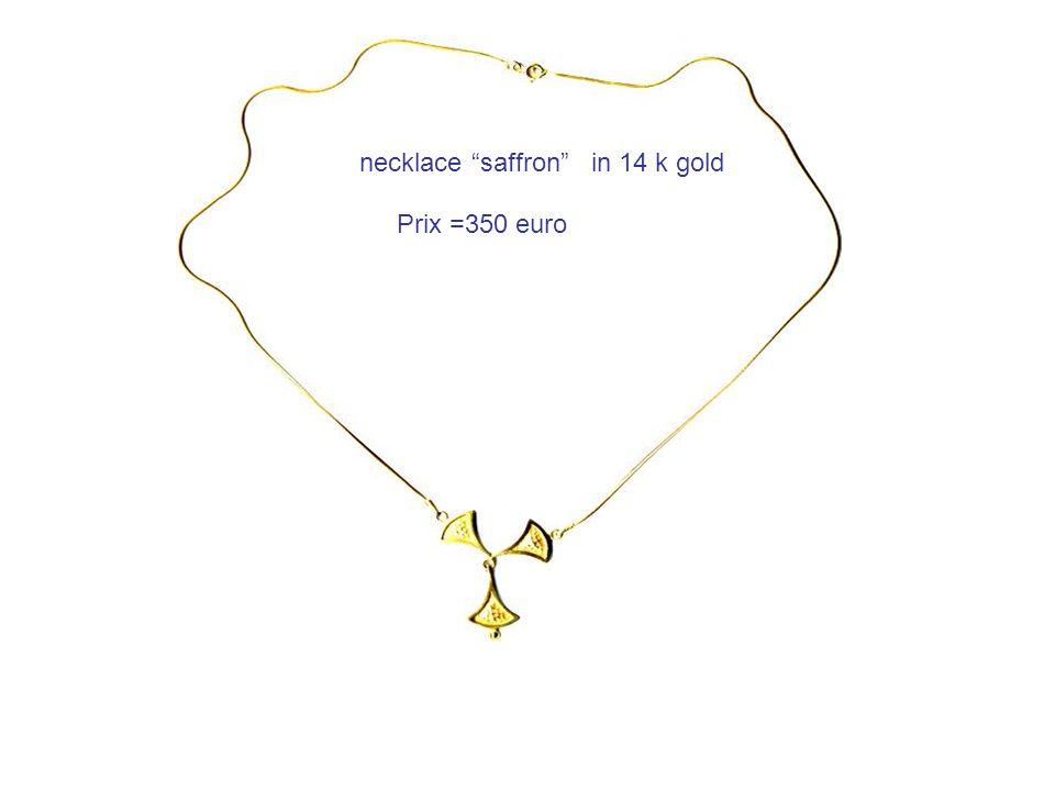 necklace saffron in 14 k gold Prix =350 euro