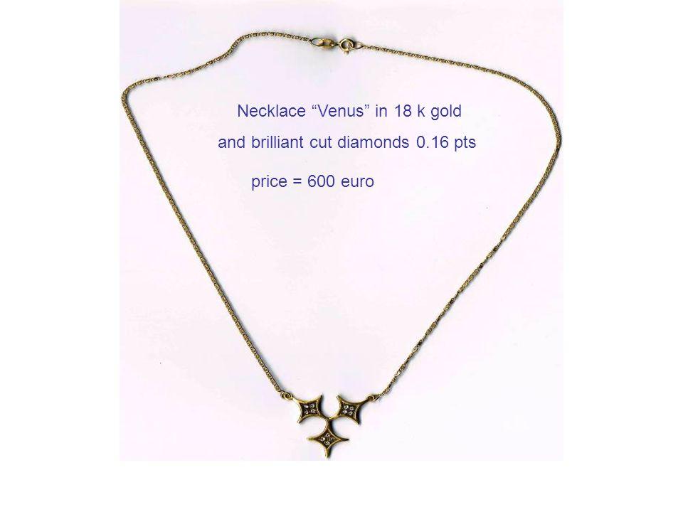Necklace Venus in 18 k gold and brilliant cut diamonds 0.16 pts price = 600 euro