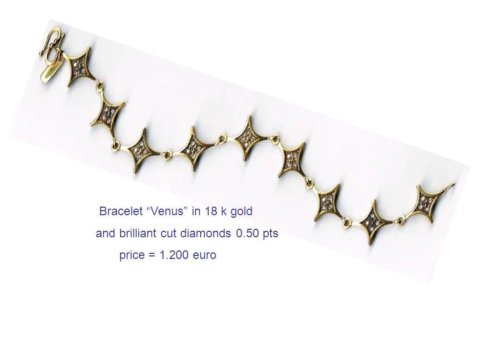 Bracelet Venus in 18 k gold and brilliant cut diamonds 0.50 pts price = 1.200 euro
