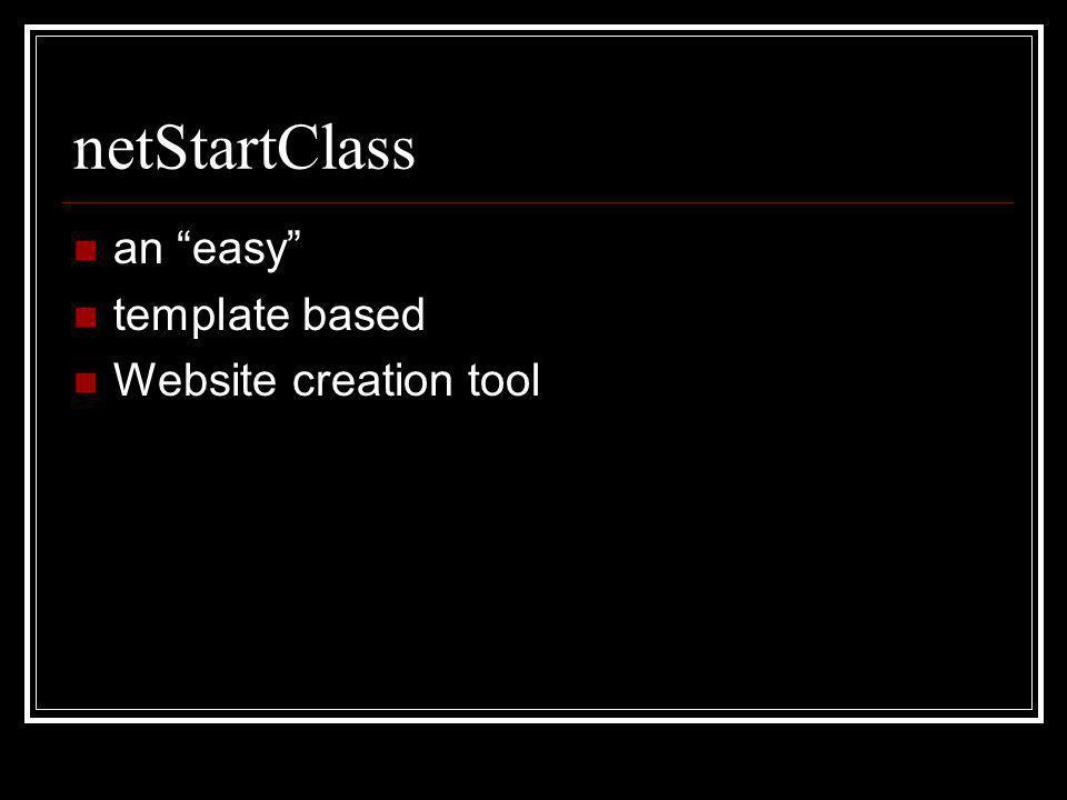 netStartClass an easy template based Website creation tool
