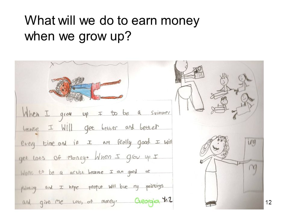 What Money Means resource CL1B 12 What will we do to earn money when we grow up?