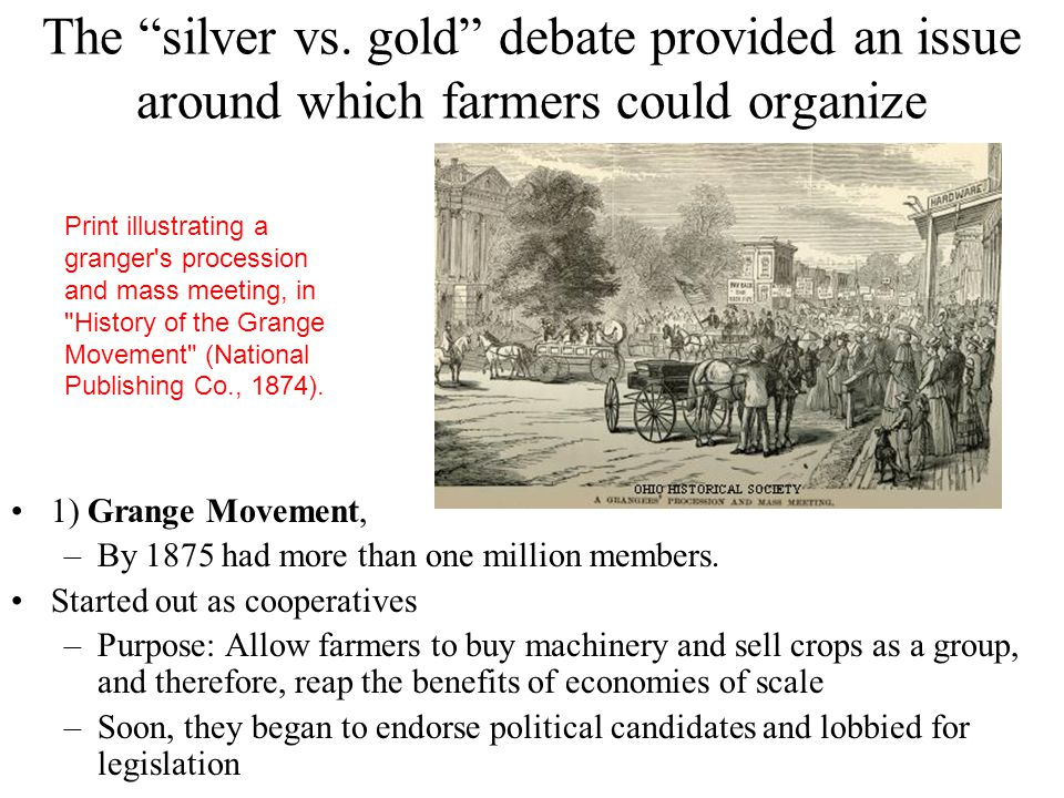 Sherman Silver Purchase Act of 1890 Increased the amount of silver that the government was required to purchase every month The law required the Treas