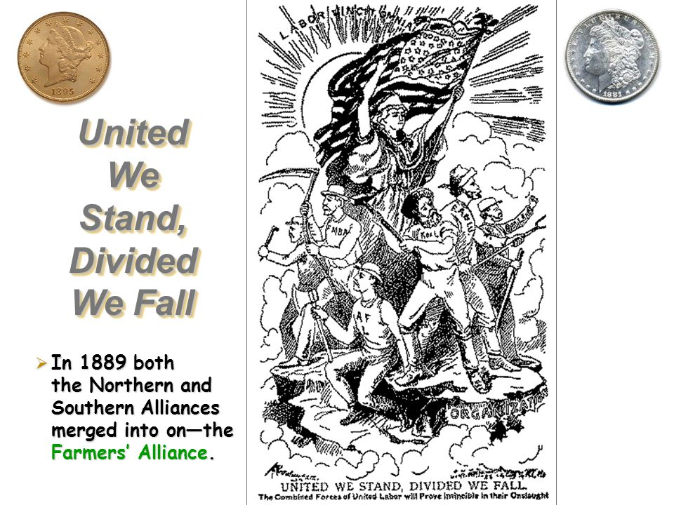 The Granges ultimately died out due to lack of money, but were replaced by Farmers Alliances. Grew into a political party called the Peoples Party, th