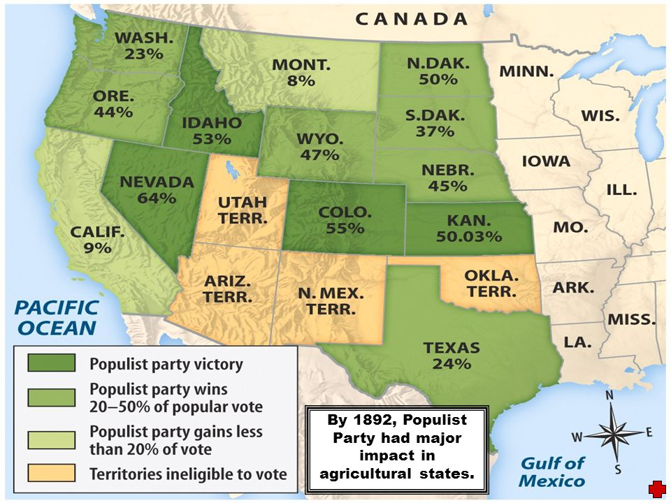 1896 Election Results He lost the campaign; this coupled with an improved economy, ended the Populist movement.