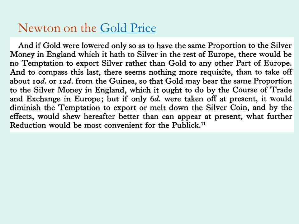 Newton on the Gold PriceGold Price