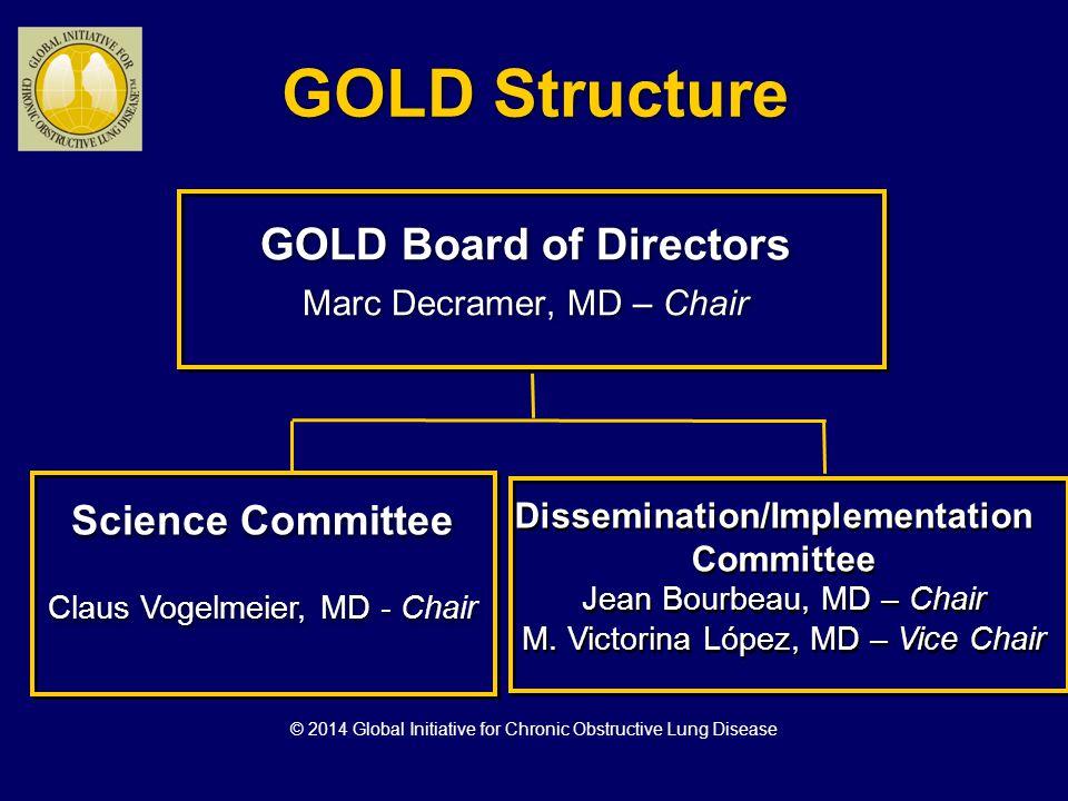 GOLD Board of Directors: 2014 A.Agusti, Spain J. Bourbeau, Canada B.