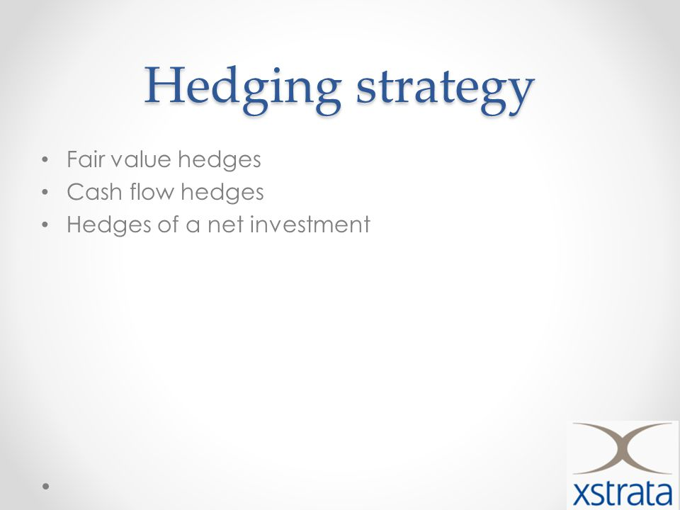 Hedging strategy Fair value hedges Cash flow hedges Hedges of a net investment