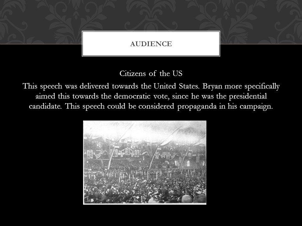 Citizens of the US This speech was delivered towards the United States.