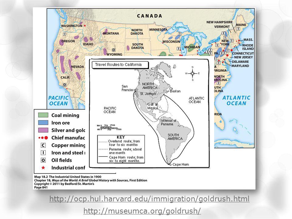 http://museumca.org/goldrush/ http://ocp.hul.harvard.edu/immigration/goldrush.html