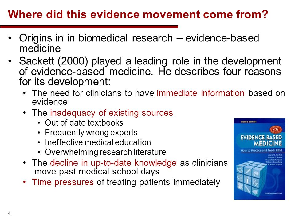 Where did this evidence movement come from.