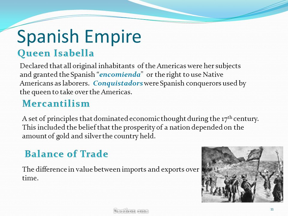 Spanish Empire Declared that all original inhabitants of the Americas were her subjects and granted the Spanish encomienda or the right to use Native
