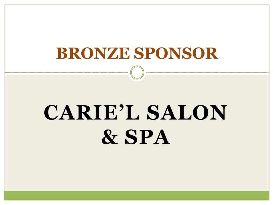 CARIEL SALON & SPA BRONZE SPONSOR