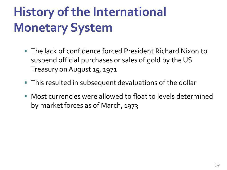 The lack of confidence forced President Richard Nixon to suspend official purchases or sales of gold by the US Treasury on August 15, 1971 This result