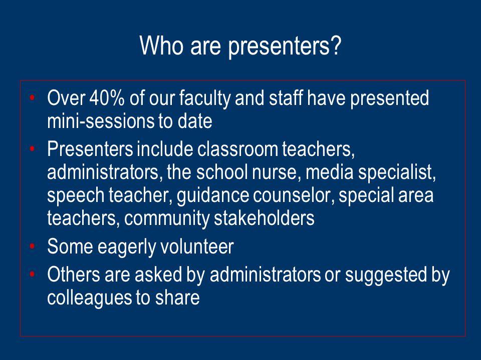 Who are presenters.