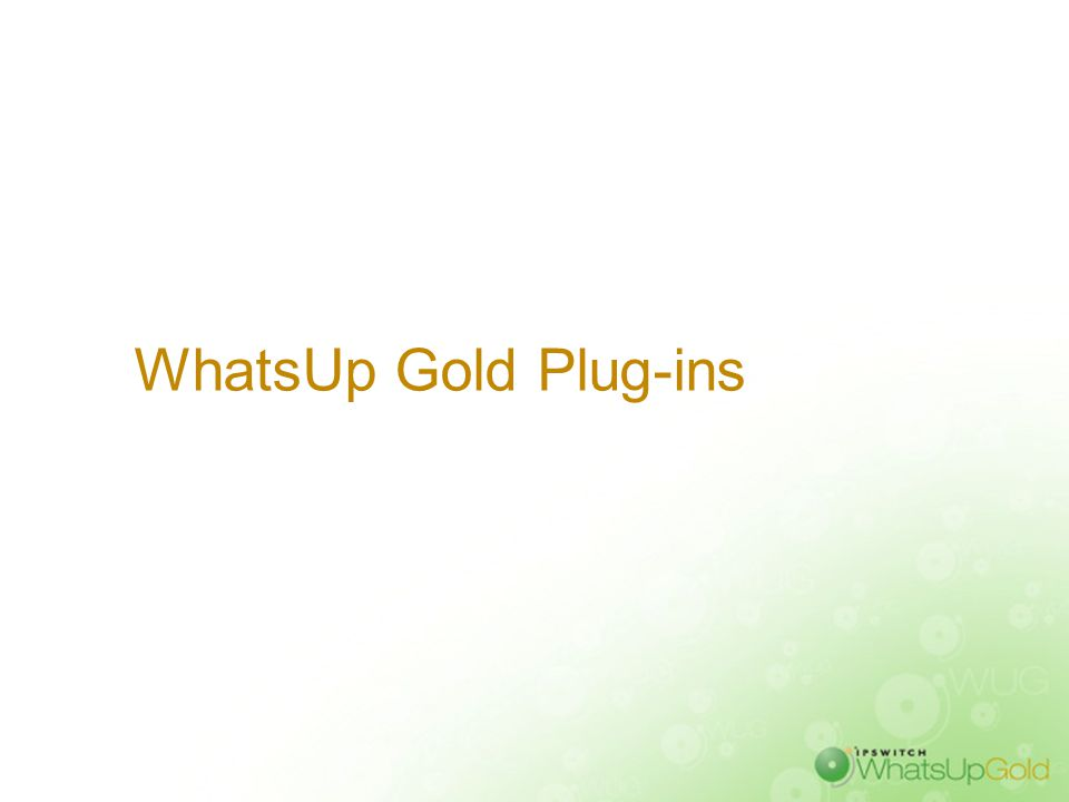 WhatsUp Gold Plug-ins